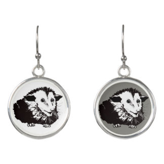 Dangling Earings with Possum Earrings