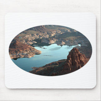 Dangling Rope Marina, Lake Powell, Utah, USA, oval Mouse Pad