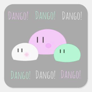 """""""Dango, Dango, Dango!"""" Square Sticker"""