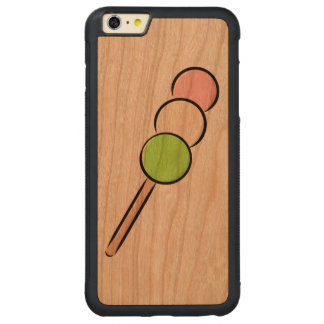 Dango Japanese Sweet Dumpling Mochi Green Pink Art Carved® Cherry iPhone 6 Plus Bumper Case