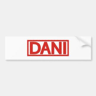 Dani Stamp Bumper Sticker