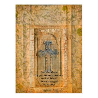 Daniel 10:19 Bible Verse about Discouragement Postcard