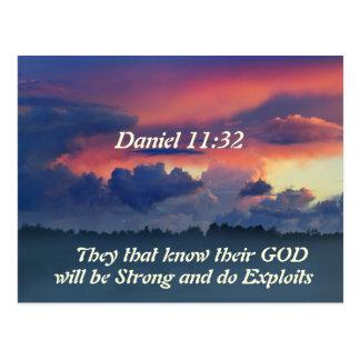 Daniel 11:32 Bible Verse Postcard