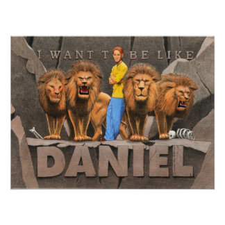 Daniel and The Lion's Den - Boy Print