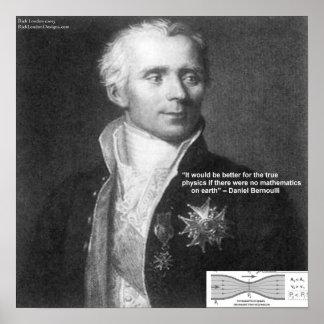 Daniel Bernoulli True  Physics Quote Gifts & Car Poster