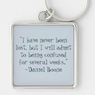 Daniel Boone Lost Quote Keychain