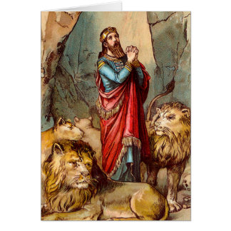 Daniel in the lion`s den Greeting card 2