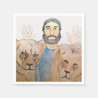 Daniel in the Lions' Den napkins Disposable Napkins
