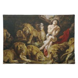 Daniel in the Lion's Den Peter Paul Rubens paint Placemat