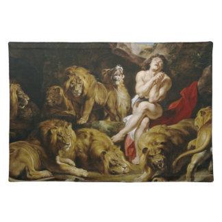 Daniel in the Lion's Den Peter Paul Rubens paint Placemat