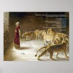 Daniel in the Lion's Den w/Bible Verse Art Print