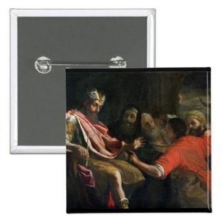 Daniel Interpreting Nebuchadnezzar's First Dream ( 15 Cm Square Badge