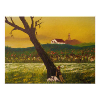 Daniel James original oil painting Poster