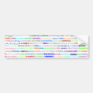 Daniel Text Design II Bumper Sticker