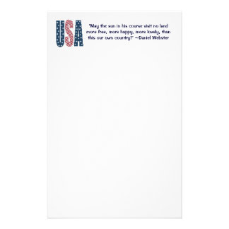 Daniel Webster Patriotic Quote Stationery