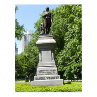 Daniel Webster Statue Central Park NY Postcard