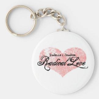 Danielle and Jennifer Radical Love Keychain