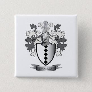 Daniels Family Crest Coat of Arms 15 Cm Square Badge