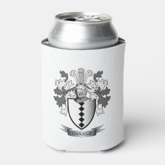 Daniels Family Crest Coat of Arms Can Cooler