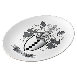Daniels Family Crest Coat of Arms Plate