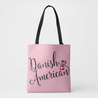 Danish American Entwined Hearts Grocery Bag