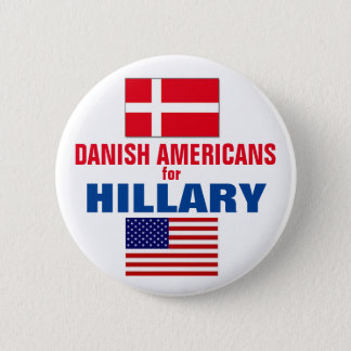 Danish Americans for Hillary 2016 6 Cm Round Badge