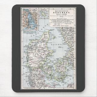 Danish Antique Map of Denmark, Danmark Mouse Pad
