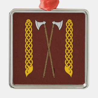 Danish Axes Crossed with Plaitwork Metal Ornament
