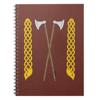 Danish Axes Crossed with Plaitwork Notebook