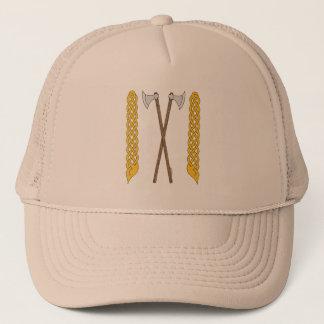 Danish Axes Crossed with Plaitwork Trucker Hat