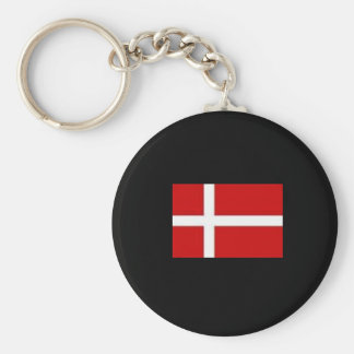 Danish Chain Basic Round Button Key Ring