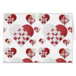 Danish Christmas Hearts Greeting Card