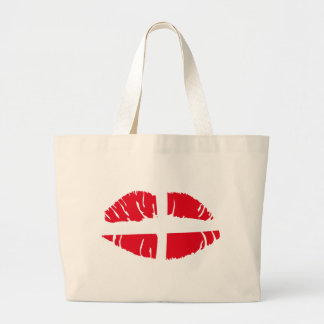 danish danmark flag lipstick canvas bags