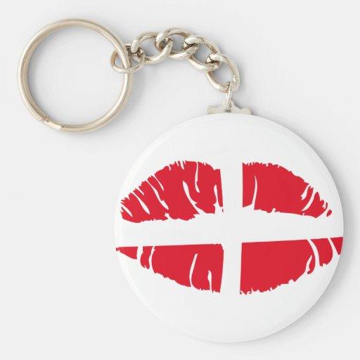 danish danmark flag lipstick key chains