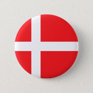Danish Flag 6 Cm Round Badge