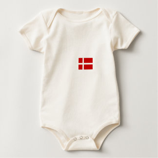 Danish flag baby bodysuit