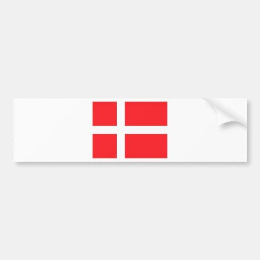 Danish Flag Bumper Stickers