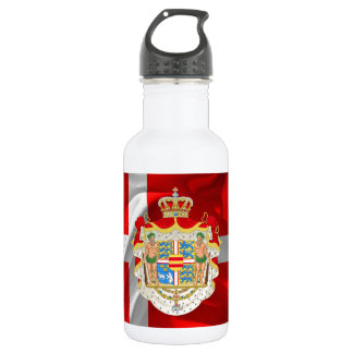 Danish flag-Coat of arms 532 Ml Water Bottle