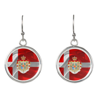 Danish flag-Coat of arms Earrings