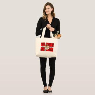Danish flag-Coat of arms Large Tote Bag