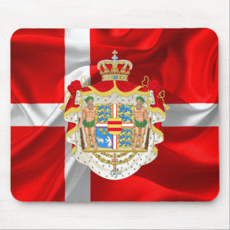 Danish flag-Coat of arms Mouse Pad