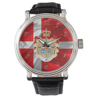 Danish flag-Coat of arms Watch