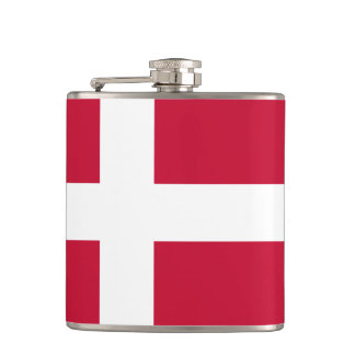 Danish flag Flask