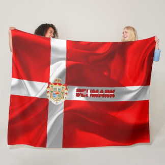 Danish flag fleece blanket