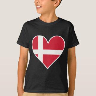 Danish Flag Heart T-Shirt