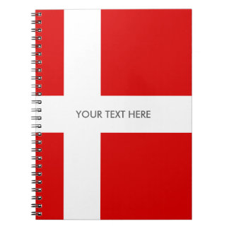 Danish flag of Denmark custom spiral notebook