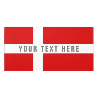 Danish flag of Denmark Scandinavian pride office Door Sign