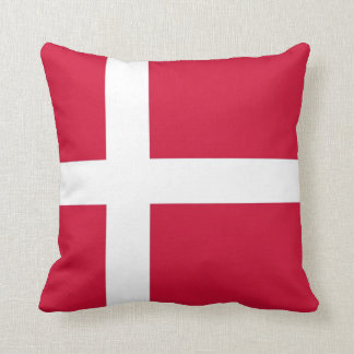 Danish Flag on American MoJo Pillow Throw Cushion