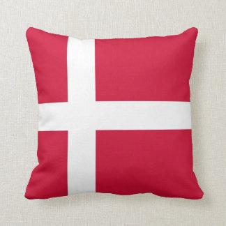 Danish Flag on American MoJo Pillow Throw Cushion