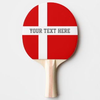 Danish flag ping pong paddle for table tennis